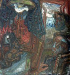 Les Visions prophétiques de Imre Ámos (23) 21st Century, Mystic, The Darkest, 1940, Hand Painted, Fine Art, Artist, Prints, Painting