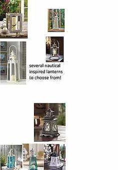 nautical Lighthouse lantern hurricane Candle holder Wedding table centerpiece