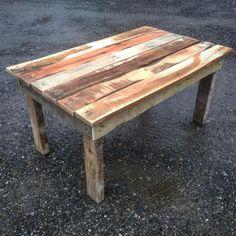 "136 Likes, 1 Comments - Salvage Furnishings (@salvagefurnishings) on Instagram: ""Coffee table #palletfurniture #reclaimedwoodfurniture #reclaimed #pittsburgh #rustic #coffeetable"""