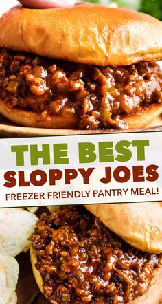Perfect for quick dinner, these family-favorite homemade sloppy joes are ready in 30 minutes or less! The silky rich sauce is ultra flavorful with a zesty kick! #sloppyjoes #weeknight Homemade Sloppy Joes, Easy Sloppy Joes, Sloppy Joe Burger, Healthy Sloppy Joes, Ground Beef Recipes, Ground Beef Dishes, Ground Meat, Food Dishes, Main Dishes