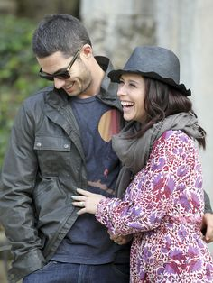 Jennifer Love Hewitt and fiance Brian Hallisay are photographed in Florence, Italy, on May 31, 2013.