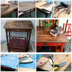 Removing veneer from a table Deep Cleaning Tips, House Cleaning Tips, Cleaning Hacks, Hacks Diy, Furniture Repair, Diy Furniture, Furniture Refinishing, Furniture Removal, Restoring Furniture