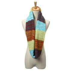 Mix Color Women Winter Warm Wool 2 Circle Neck Long Shawl Cowl Scarf - Gchoic.com