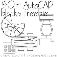 50 AutoCAD blocks freebie