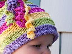 51 Ideas For Knitting Loom Hats Kids Free Pattern Baby Hat Knitting Pattern, Loom Knitting Patterns, Baby Hats Knitting, Knitting For Kids, Free Knitting, Knitting Projects, Crochet Patterns, Knitting Sweaters, Summer Knitting