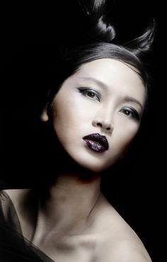 2014 Trend look1: Modern wtich  Creative Director: Jacki Puzik Photographer: Rene Russo Hair: Mara Schiavetti  Makeup: Taylor Babaian  Model: Elizabeth ThuyTien