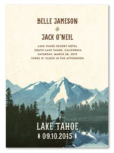 Rustic Wedding Programs ~  Lake Tahoe by ForeverFiances Weddings (unique on 100% recycled woodsy paper)