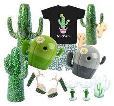 """moody cactus"" by maemigoro ❤ liked on Polyvore featuring interior, interiors, interior design, home, home decor, interior decorating, Conran, Charlotte Olympia and Gorjana"
