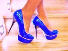 Cute Heels | blue, cute, fashion, high heels, shoes - inspiring picture on Favim ...