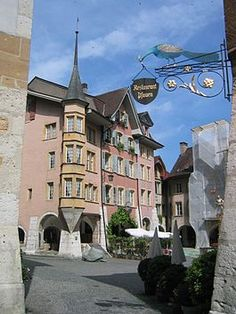 Biel Switzerland...my city i be born right here in the place...up the restaurant pfauen.
