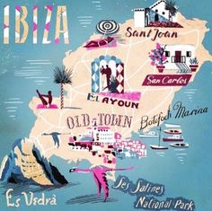 Dot & Bo's new Wanderlust Collection: Island Hopping in Spain - featuring design elements inspired by the islands of Ibiza and Mallorca Travel Maps, New Travel, Spain Travel, Travel Posters, Travel Europe, Ibiza Travel, Wanderlust Travel, Menorca, Ibiza Formentera