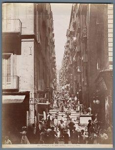Italia, Costumi Napoli Alinari Gradoni di Chiaia    #Europe #Italia #Naples_Napoli