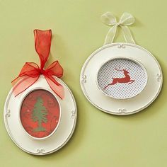 Frame Your Favorites   The inspiration behind these mini-framed, silhouette collages is finding just the right image to cut out of your card. An X-acto knife assures the clean lines needed to make perfect silhouette cut-outs. The background paper can be the insert that came with the frame, wrapping paper or even butcher block paper!  Photo via Good Housekeeping