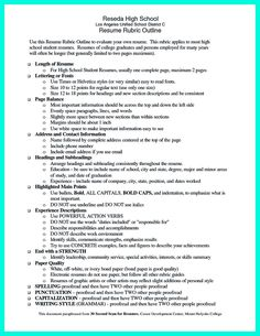 Resume Examples Student Examples Collge High School Student