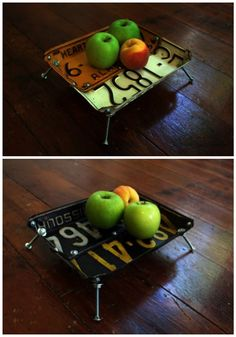 #Bowl, #LicensePlate, #Upcycled