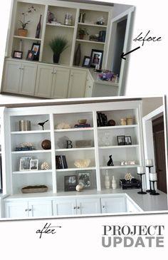 101 of bookshelf makeover