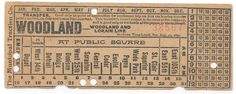Streetcar transfer from Municipal Traction Co. (Cleveland, Ohio) (1890s or early 20th century)