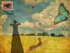 Postcards of my life, collage . Mixed Media Collage, Collage Art, Art Journal Pages, Art Journals, Land Art, Objets Antiques, Art Carte, Street Art, Envelope Art