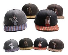Smoking Animal Snapback Hiphop baseball cap hiphop snapback hat Adjustable #PREMIER #Snapback