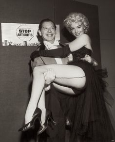 Marilyn Monroe with Milton Berle at The Ringling Bros Circus. March 30, 1955  photo by Weegee