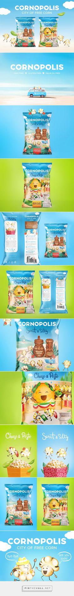 Cornopolis Popcorn - Packaging of the World - Creative Package Design Gallery - http://www.packagingoftheworld.com/2017/03/cornopolis.html