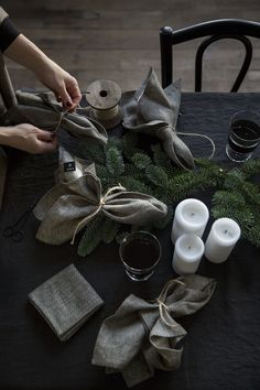 scandinavian interior design. washi linen napkins