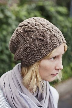Rosebud hat pattern by Jared Flood (knitting, beanie, toque, brooklyn tweed, cables)