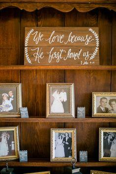 wedding family photo display | The Nichols