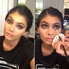 Kylie Jenner posted a Snapchat of herself dancing while getting her eye makeup done and it just might be the darkest smokey eye we've ever seen on her. What do you guys think of her purple smokey eye — do you love it or loathe it? VOTE.