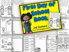 First Day of School Book (Easy must have booklet for the 1st day of school.)
