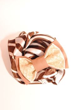 FREE SHIPPING Brown beige bowtie Men's bowtie by accessories482