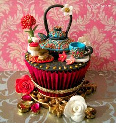 giant cupcake with pretty colors