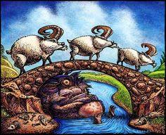 Three Billy Goats Gruff by ChetArt on Etsy