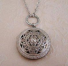 cf498e37ddb9 Silver Locket Necklace Wedding Jewelry by BackstreetCreations   locketnecklace