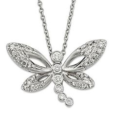 18K Diamond Dragonfly Pendant from Borsheims
