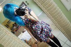 It's not just hair, it's the attitude. Alternative Hair, Alternative Fashion, Harajuku Fashion, Harajuku Style, Short Dyed Hair, Blue Green Hair, Emo Scene Hair, Hair Addiction, Scene Girls