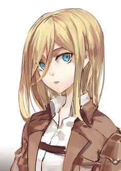 christa shingeki no kyojin Manga Anime, Me Anime, Anime Girls, Snk Annie, Ymir And Christa, Historia Reiss, Attack On Titan Fanart, Ereri, Armin