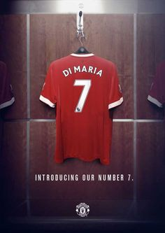 Record signing Angel Di Maria joins an illustrious list including Best, Robson, Beckham, and Ronaldo after being handed the no. 7 shirt at Manchester United 2014, Manchester United Football, Daley Blind, New Number, Soccer Skills, English Premier League, Old Trafford, Man United, The Unit