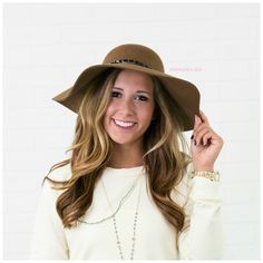 Have It All Brown Floppy Hat