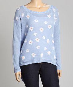 Love this Blue Daisy Sweater - Plus on #zulily! #zulilyfinds