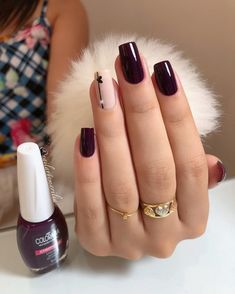 Simple Nails came super ideas Cute Acrylic Nails, Acrylic Nail Designs, Cute Nails, Stylish Nails, Trendy Nails, Square Nails, Gorgeous Nails, Simple Nails, Nails Inspiration