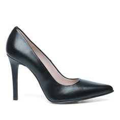 Leren pointy pumps zwart #pumps #high heels
