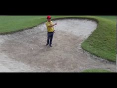 Bunker Shot. 30m - Golf Tips Playing a 50m or more bunker shot with a 8 iron Tee One Up Golf It Field, Golf Drivers, Play Golf, Bunker, Golf Tips, Baseball Field, Woodworking Projects, Shots, Iron