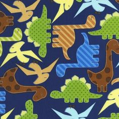 Boy's Room Quilt Dinosaurs Urban Zoologie and Remix Fabric by Ann Kelle for Robert Kaufman-  Fat Quarter Bundle- 8 total.