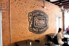 Faux Ghostsign for Rusty Taco, Denton Texas   Danthonia Designs Blog