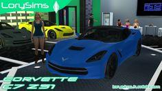 Corvette C7 Z51 at LorySims via Sims 4 Updates