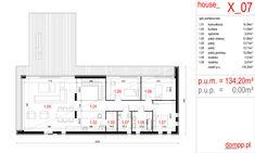 Projekt domu House x07 - DomPP.pl projekty domów Modern Architecture, Floor Plans, Exterior, House Design, Modernism, Architecture, Home Design, Floor Plan Drawing, Home Design Plans