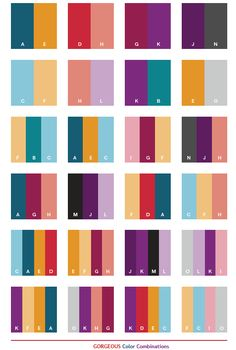 Gorgeous color schemes, color combinations, color palettes for print (CMYK) and Web (RGB + HTML)