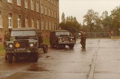 Series 3 LWB Landrovers of the Royal Engineers at Osnabrook, Germany 1979