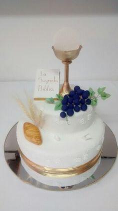 Torta primera comunion uvas